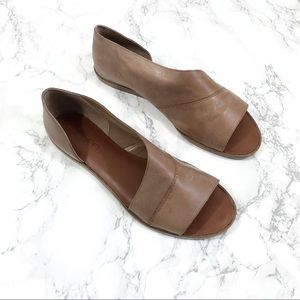 1. State Calvin Brown Leather Open Toe Sandals